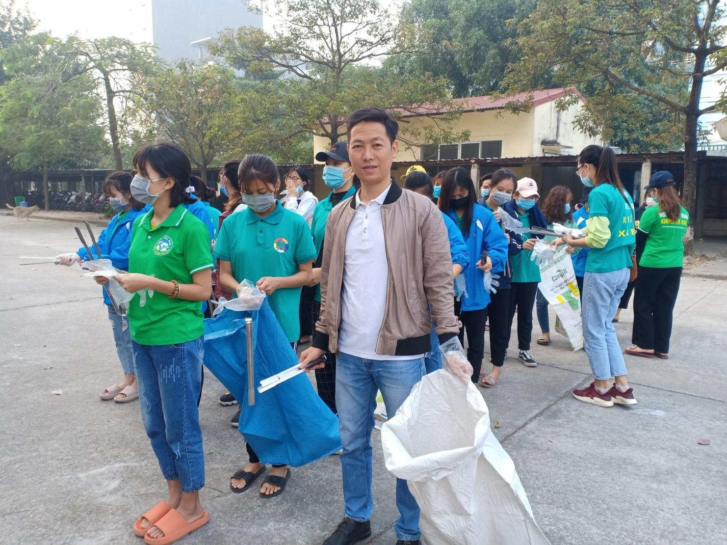 Ngày thứ 7 xanh tại trường Đại học Công nghiệp Dệt May Hà Nội