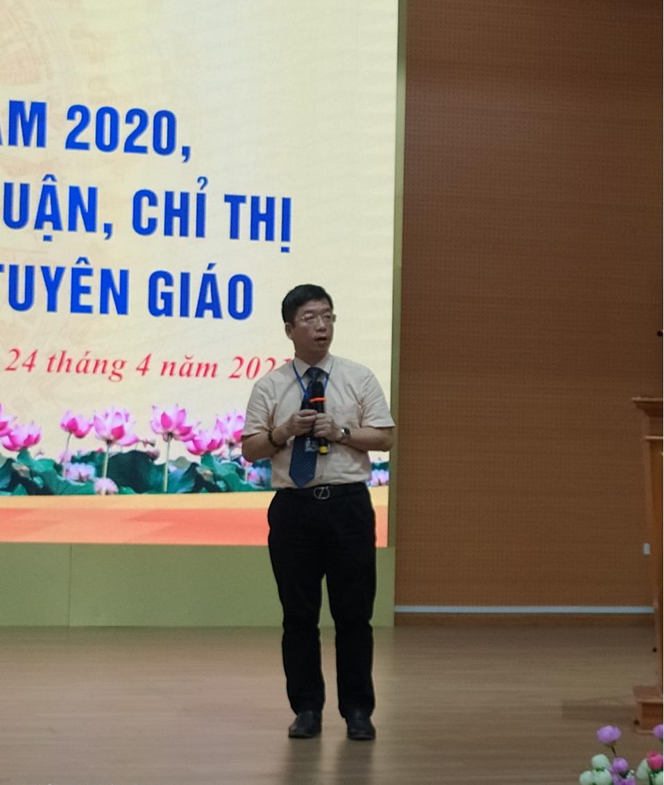 Hội nghị tổng kết công tác Đảng năm 2020; triển khai quán triệt các kết luận chỉ thị của TW về công tác tuyên giáo