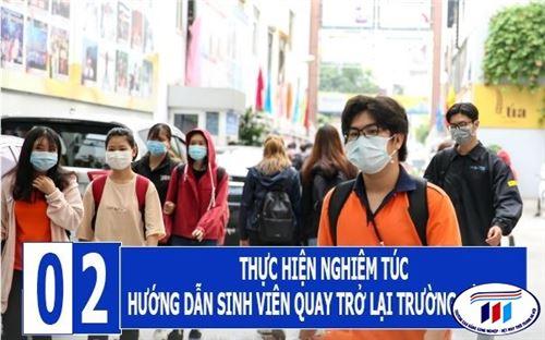Một số lưu ý cho sinh viên  HTU khi quay trở lại trường học