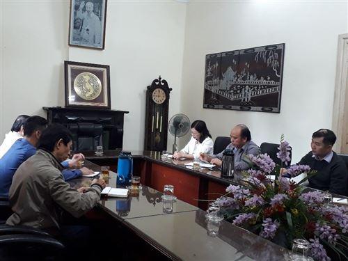 Làm việc về công tác đào tạo và nghiên cứu khoa học  tại một số doanh nghiệp thuộc địa bàn tỉnh Nam Định