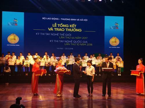 Sinh viên trường Đại học Công nghiệp Dệt May Hà Nội đạt Huy chương vàng tại kỳ thi Tay nghề quốc gia lần thứ X năm 2018