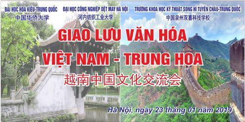 Giao lưu văn hóa Việt Nam - Trung Hoa