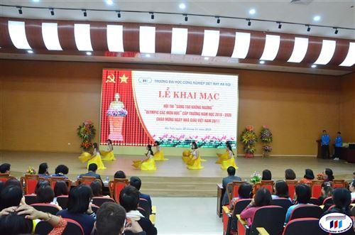 Lễ khai mạc Hội thi Sáng tạo không ngừng, Olympic các môn học năm học 2019-2020, chào mừng ngày Nhà giáo Việt Nam 20/11.