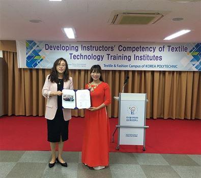 Báo cáo kết quả khóa học tập tại Hàn Quốc - Nâng cao năng lực đào tạo trong lĩnh vực Dệt May.