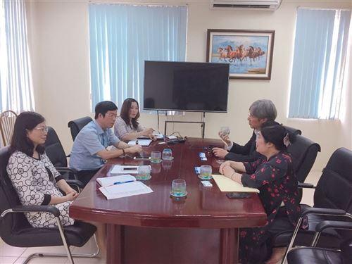 Trường Đại học Công nghiệp Dệt May Hà Nội tiếp đón lãnh đạo Công ty ISEP Korea Co. Ltd (Hàn Quốc)