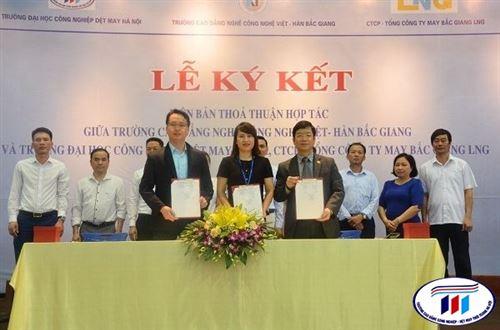 Lễ ký kết thỏa thuận hợp tác đào tạo và sử dụng nguồn nhân lực cơ điện trong lĩnh vực dệt may