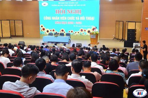 Hội nghị công nhân viên chức và đối thoại năm học 2020-2021 của trường Đại học Công nghiệp Dệt May Hà Nội