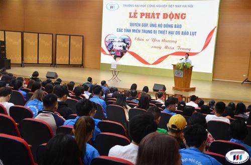 Lễ phát động quyên góp, ủng hộ đồng bào các tỉnh miền Trung bị thiệt hại do bão lụt