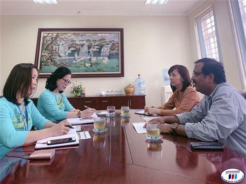 Đại sứ quán Ấn Độ tiếp tục triển khai hợp tác với trường Đại học Công nghiệp Dệt May Hà Nội