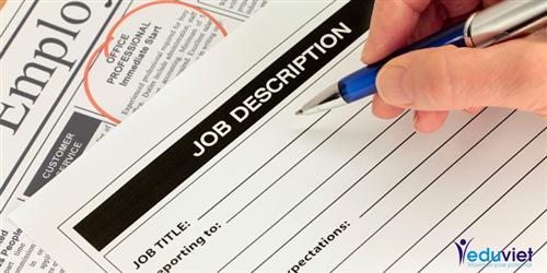 Những lỗi lầm muôn thuở cần tránh ghi viết bản mô tả công việc
