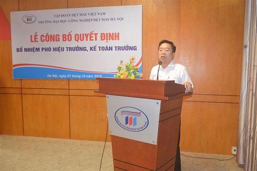 Lễ công bố Quyết định bổ nhiệm Phó Hiệu trưởng và Kế toán trưởng trường Đại học Công nghiệp Dệt May Hà Nội