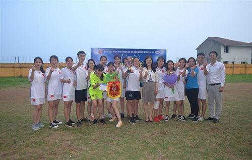 Chung kết giải bóng đá Cup nữ sinh HTU 2018