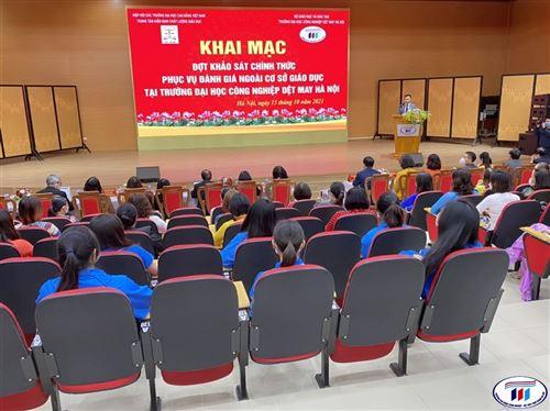 Khai mạc đợt khảo sát chính thức phục vụ đánh giá ngoài cơ sở giáo dục tại trường Đại học Công nghiệp Dệt May Hà Nội