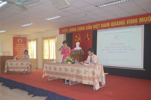 Hội nghị cán bộ công nhân viên chức và đối thoại với cán bộ viên chức năm học 2018-2019