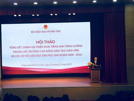 Hội thảo tổng kết công tác đào tạo tiếng Anh tăng cường các cơ sở giáo dục đại học