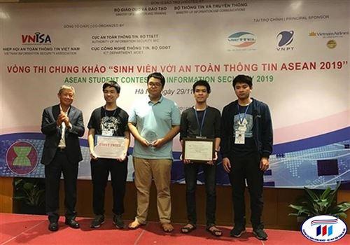 """Sinh viên Việt Nam đạt thành tích cao nhất tại cuộc thi """"Sinh viên với An toàn thông tin ASEAN 2019"""""""