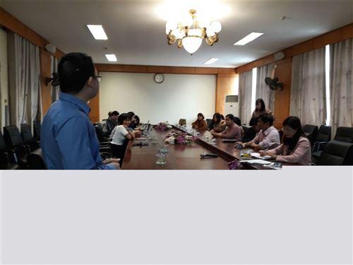 Khoa Khoa học cơ bản, trường Đại học Công nghiệp Dệt May Hà Nội tổ chức hội nghị    Sơ kết kì 1 năm học 2017 - 2018.