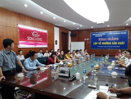 Khai giảng Lớp Tổ trưởng sản xuất tại Công ty Cổ phần May Sông Hồng