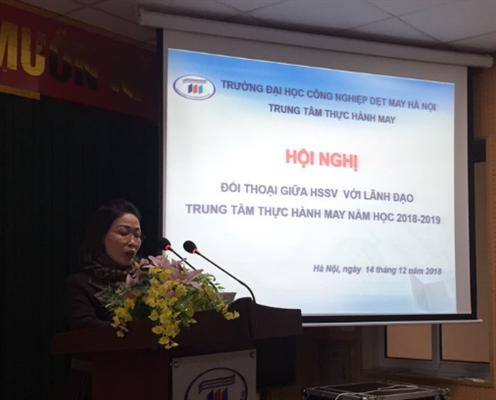 Hội nghị đối thoại giữa HSSV với lãnh đạo Trung tâm THM năm học 2018-2019