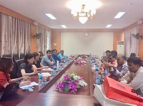 Trường Đại học Công nghiệp Dệt May Hà Nội tiếp đoàn công tác Bangladesh