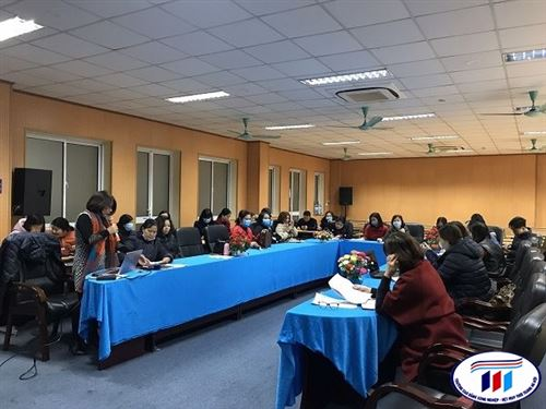 Hội nghị sơ kết học kỳ 1 năm học 2019-2020 Khoa Công nghệ may