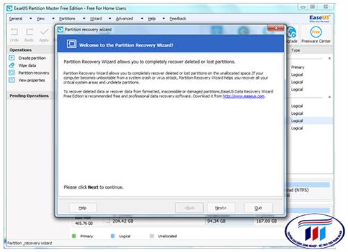 Cách khôi phục các file bị mất sau khi phân vùng lại ổ cứng