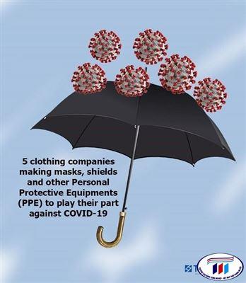 5 thương hiệu dệt may sản xuất thiết bị bảo hộ (PPE) phục vụ công tác chống dịch COVID-19