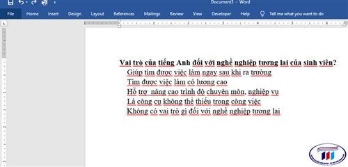 Cách tạo checkbox trong Microsoft Word