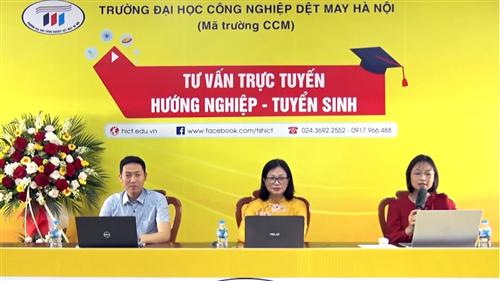 Tư vấn tuyển sinh năm 2021 - Trường Đại học Công nghiệp Dệt May Hà Nội - 01