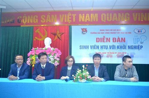 Diễn đàn sinh viên HTU với khởi nghiệp