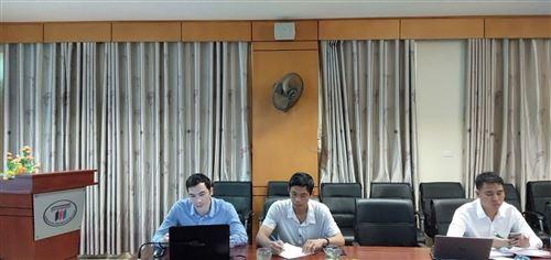 Nghiệm thu đề tài nghiên cứu khoa học cấp trường,  chủ nhiệm đề tài Th.s. Vũ Văn Thảo, giảng viên khoa Cơ điện