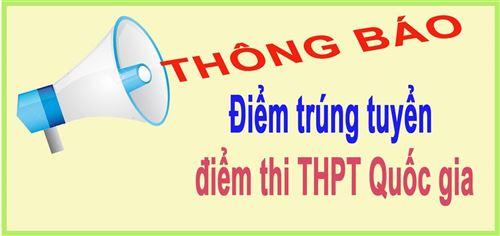 ĐIỂM TRÚNG TUYỂN ĐIỂM THI THPT QUỐC GIA
