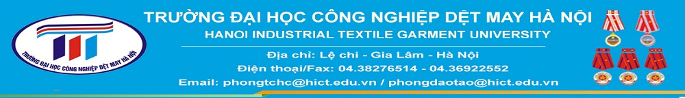 Bảng điểm thi lại tốt nghiệp năm học 2016-2017 - Trường Đại học Công nghiệp Dệt May Hà Nội